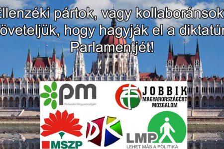 Tüntetés az ellenzéki kollaboráció ellen