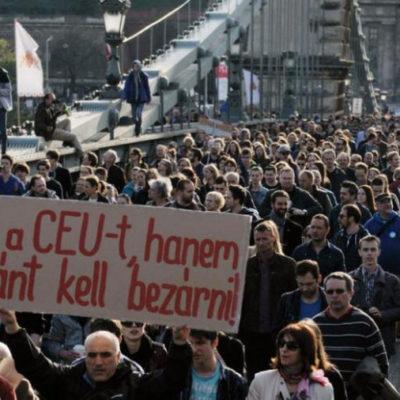 A CEU elűzése a hitleri Németországot idézi
