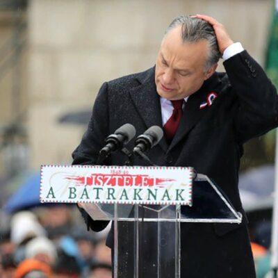 Orbán március 15-i beszéde, a toll nélküli páva tánca