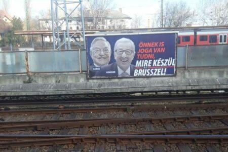 Mint a Szovjetunióban: csak Weber útvonalán tüntették el a Juncker-Soros plakátokat