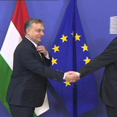 Orbán toporzékol a Juncker iránti gyűlölettől